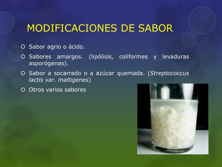 MODIFICACIONES DE SABOR