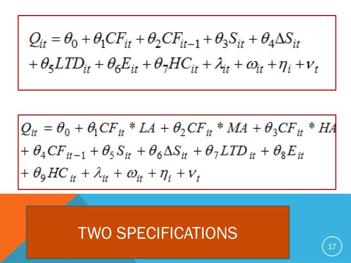 TWO SPECIFICATIONS