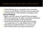 subacute granulomatous t hyroiditis