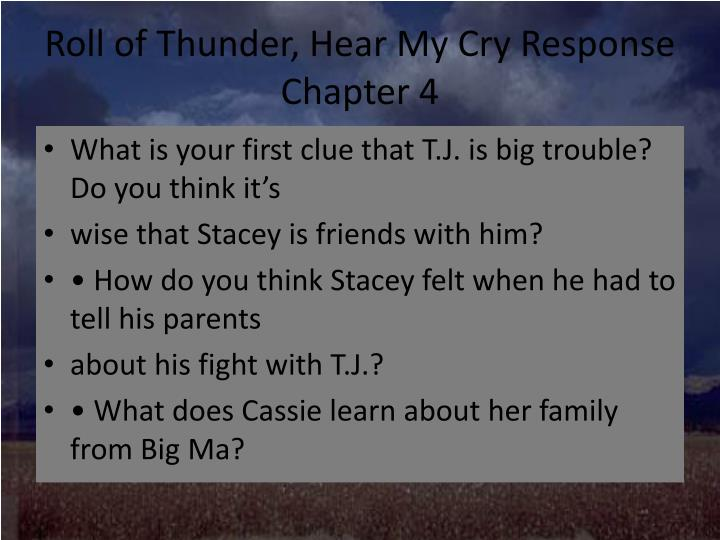 PPT - Roll of Thunder, Hear My Cry PowerPoint Presentation ...