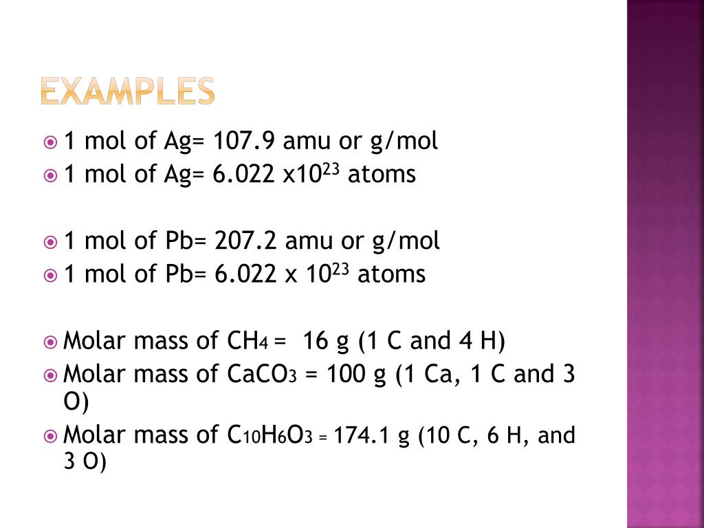 PPT - Moles, Avogadro's Number, and Molar Mass PowerPoint ...