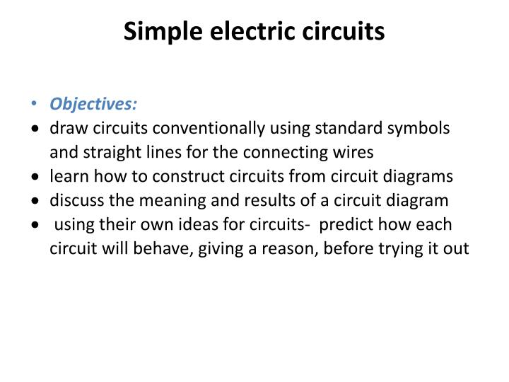 simple electric circuits - powerpoint ppt presentation
