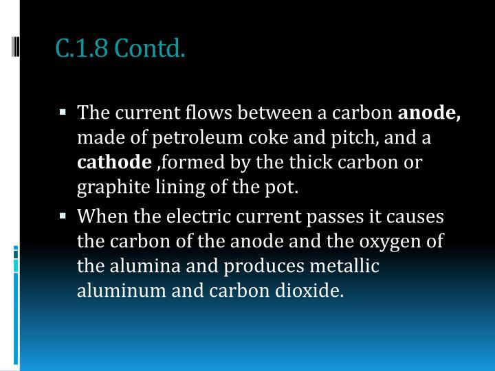 C.1.8 Contd.