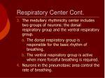 respiratory center cont