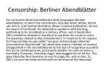 censorship berliner abendbl tter