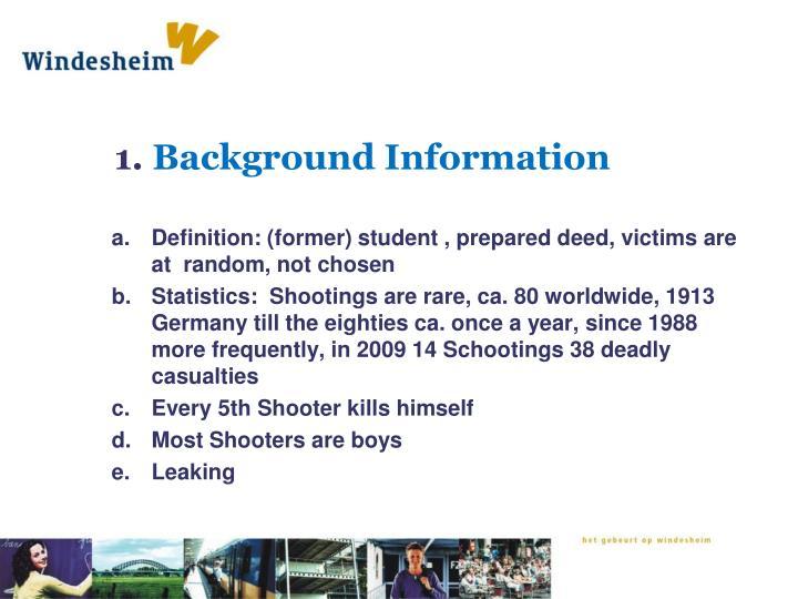 1 background information
