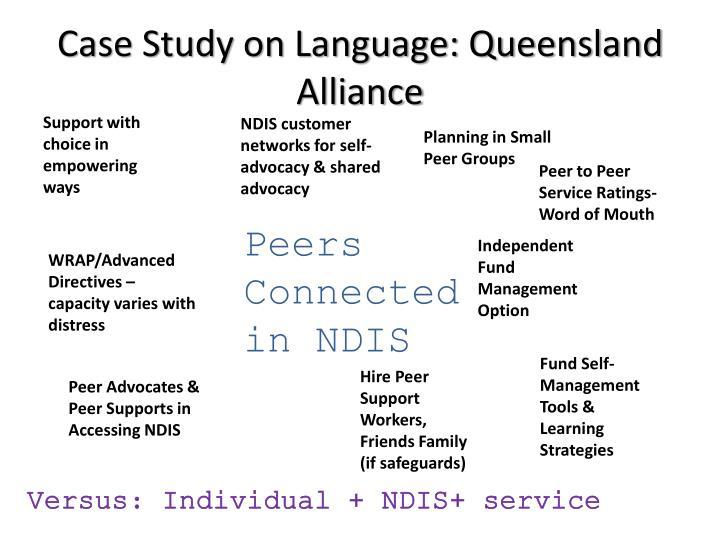 Case Study on Language: Queensland Alliance