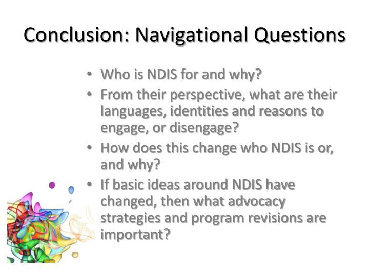 Conclusion: Navigational Questions