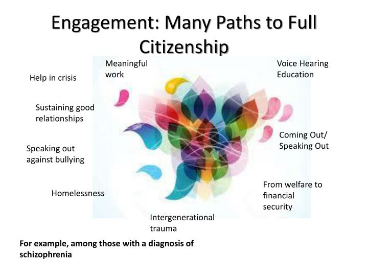 Engagement: Many Paths to Full Citizenship