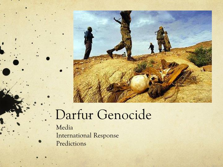 genocide in darfur research paper Tracking the genocide in darfur: population displacement as recorded by remote sensing  genocide studies working paper no 36  author: russell schimmer.