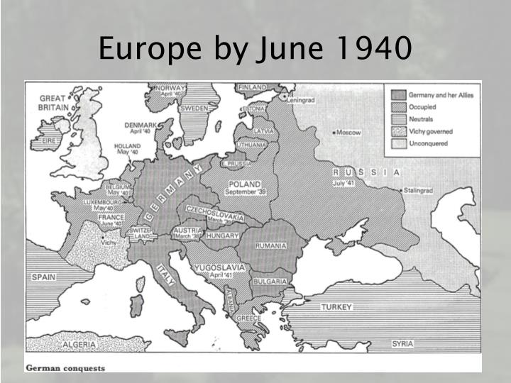 Europe by june 1940