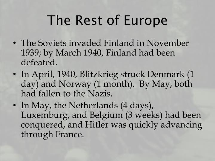 The Rest of Europe