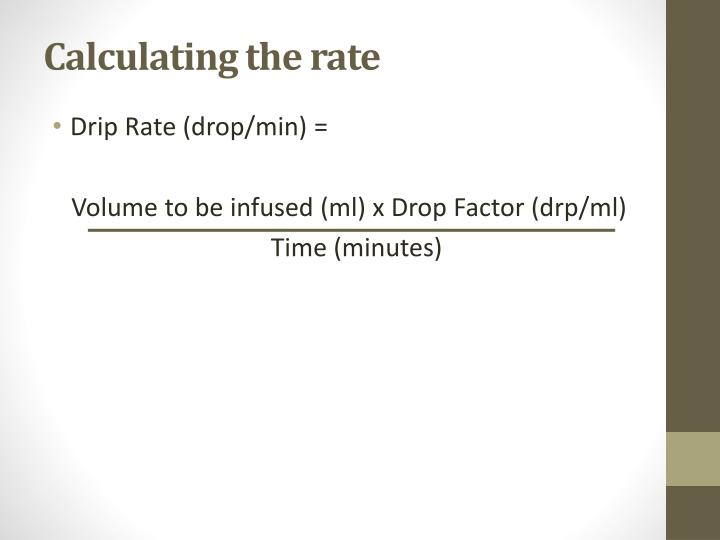 Calculating the rate