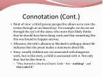connotation cont