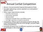 annual cansat competition