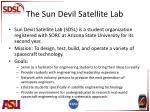 the sun devil satellite lab