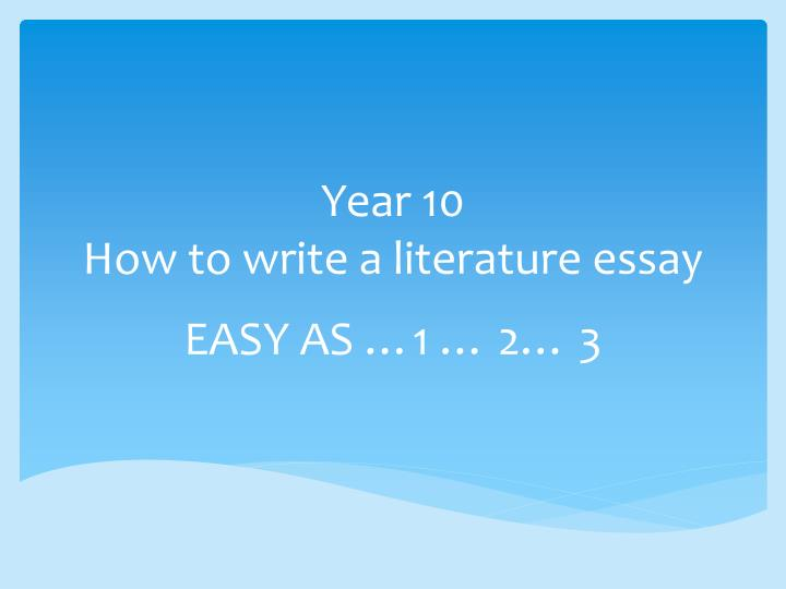 writing an introduction to a literature essay
