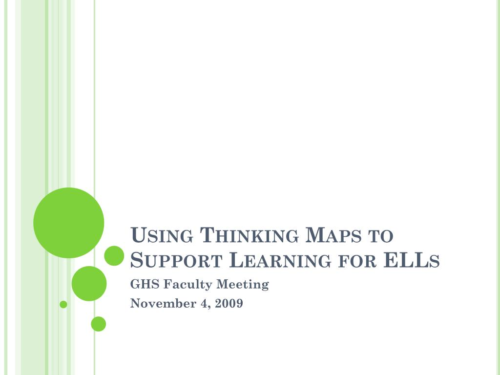 Ppt Using Thinking Maps To Support Learning For Ells Powerpoint