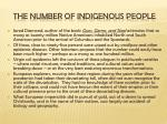 the number of indigenous people