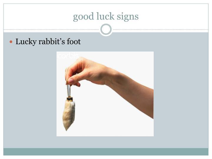 good luck signs