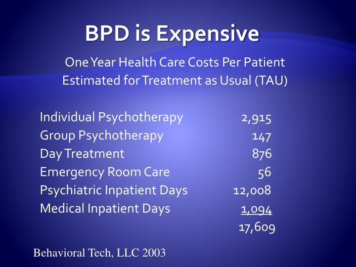 BPD is Expensive