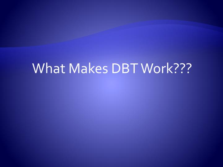 What Makes DBT Work???