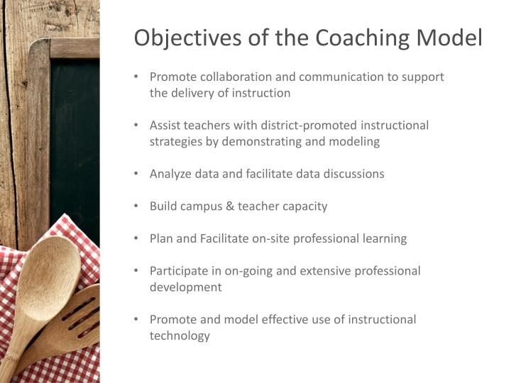 Objectives of the Coaching Model