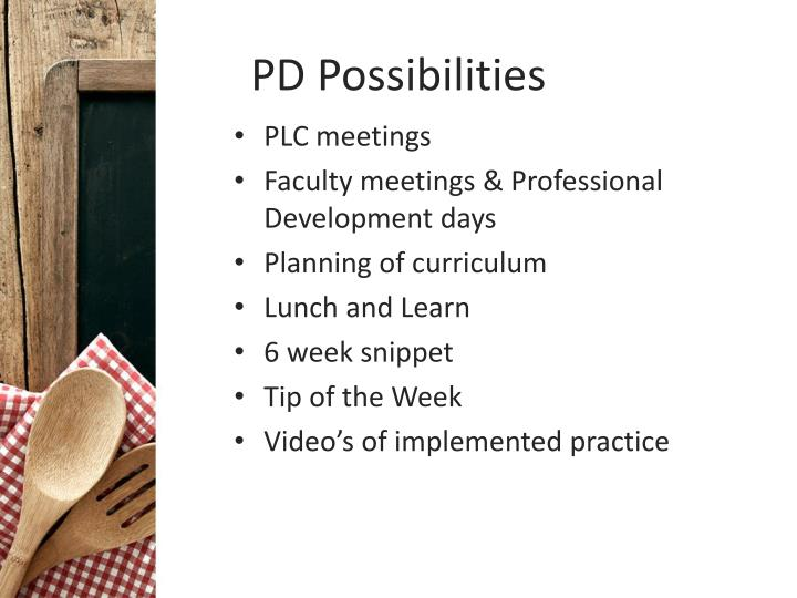 PD Possibilities