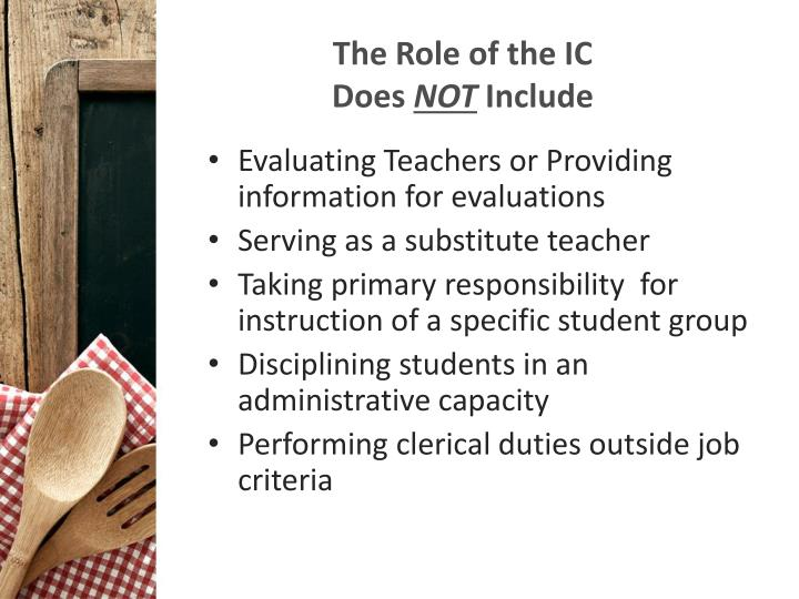 The Role of the IC