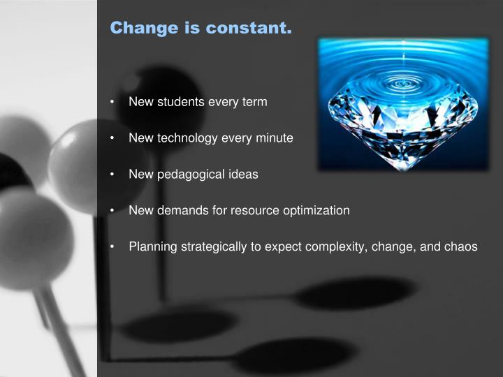 Change is constant.