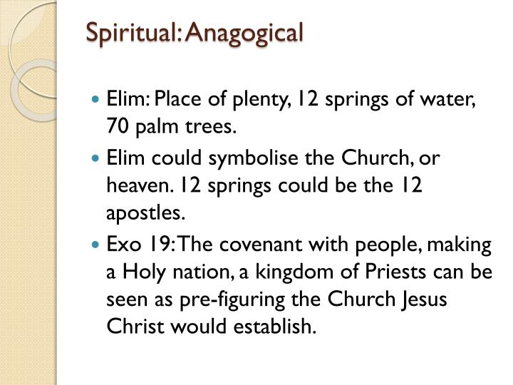 Spiritual: Anagogical