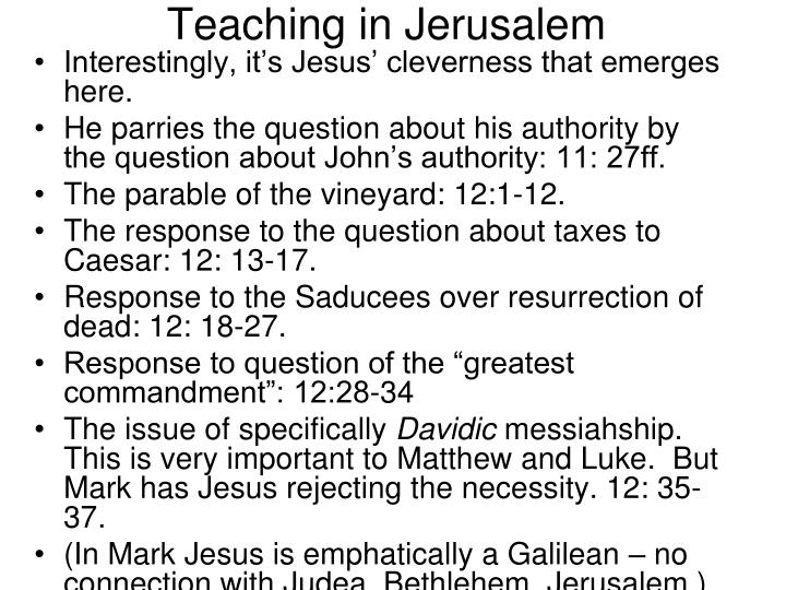 Teaching in Jerusalem