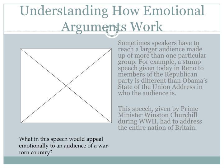 Understanding How Emotional Arguments Work