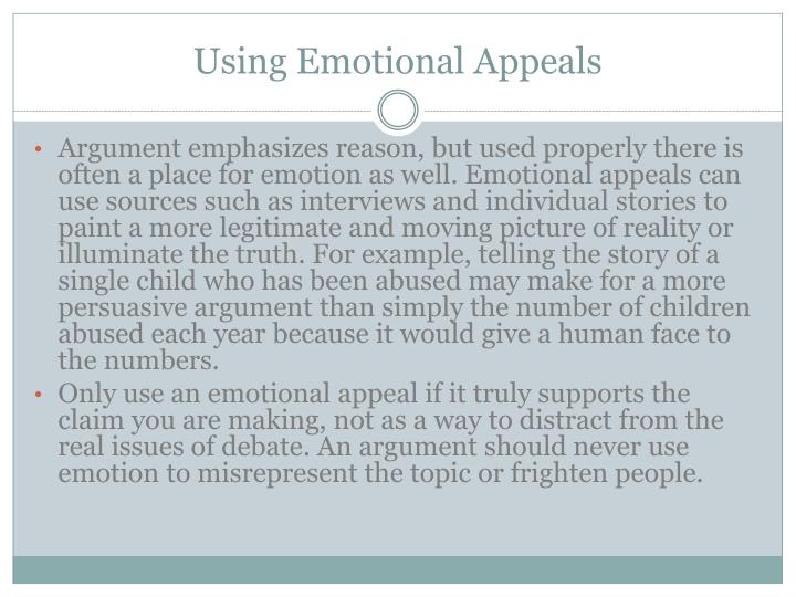 Using Emotional Appeals