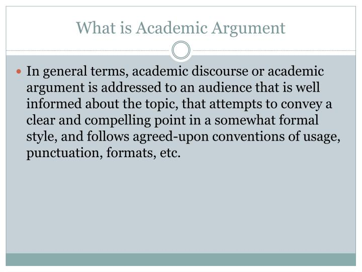 What is Academic Argument