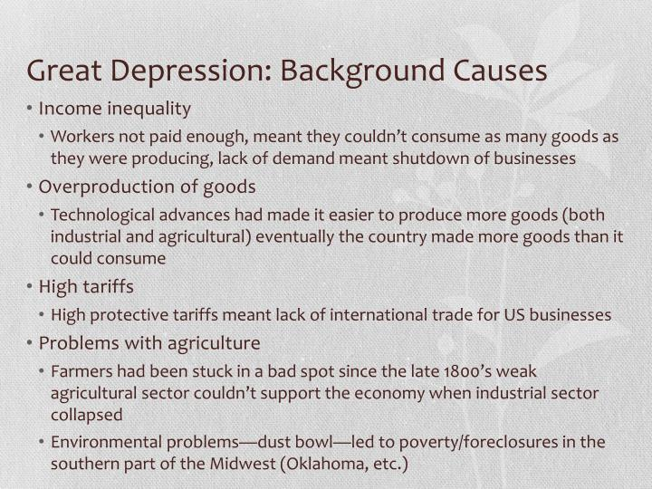 Great Depression: Background Causes