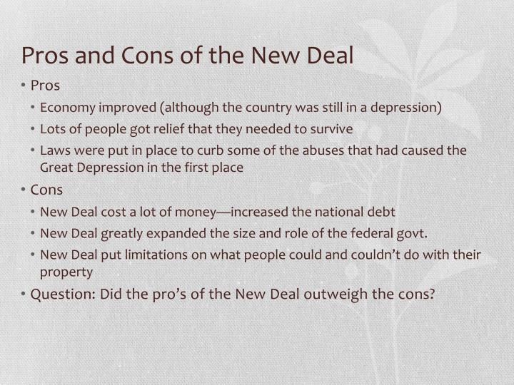pros of the new deal