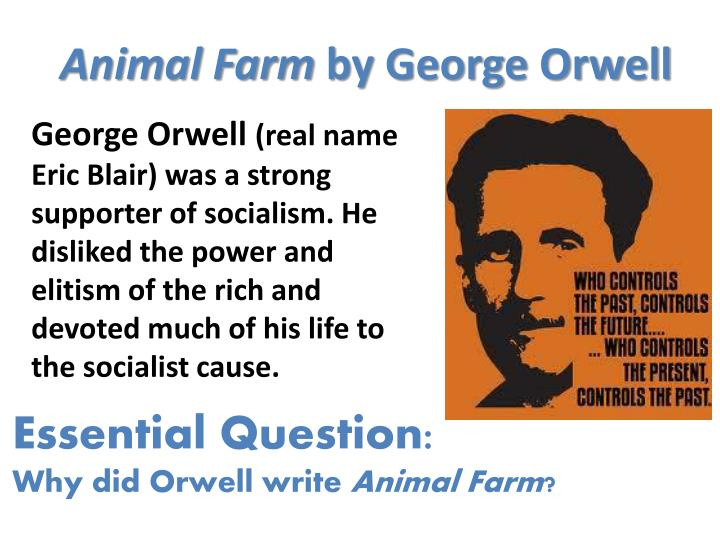 the effects of power and control in animal farm by george orwell
