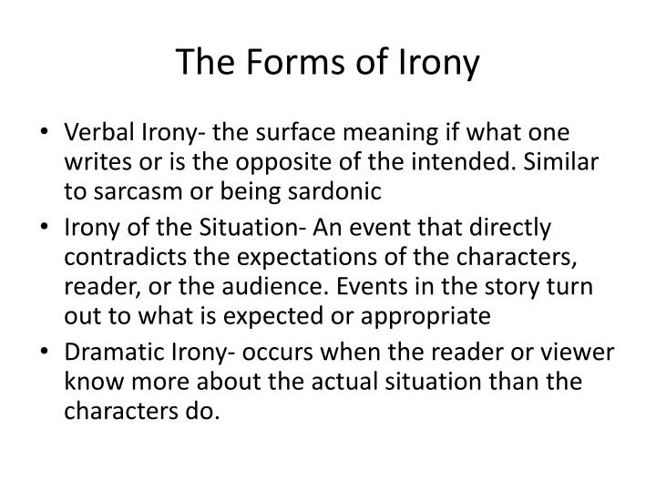different forms of irony