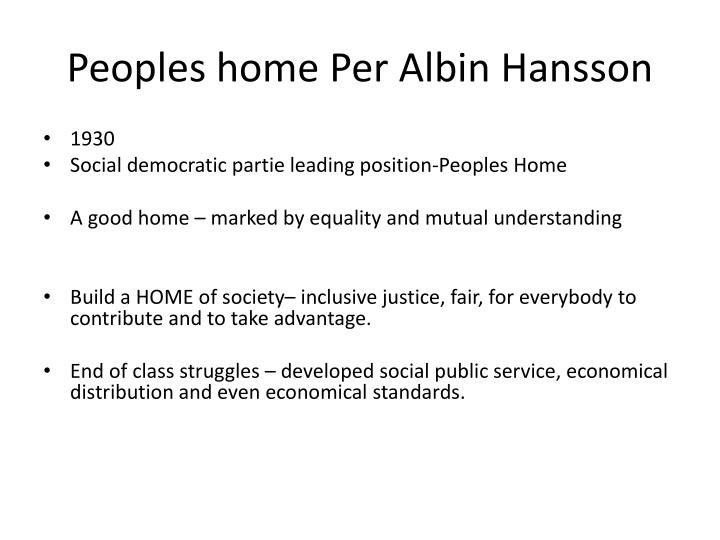 Peoples home Per