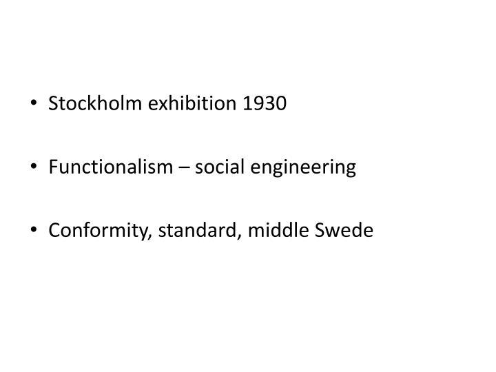 Stockholm exhibition 1930