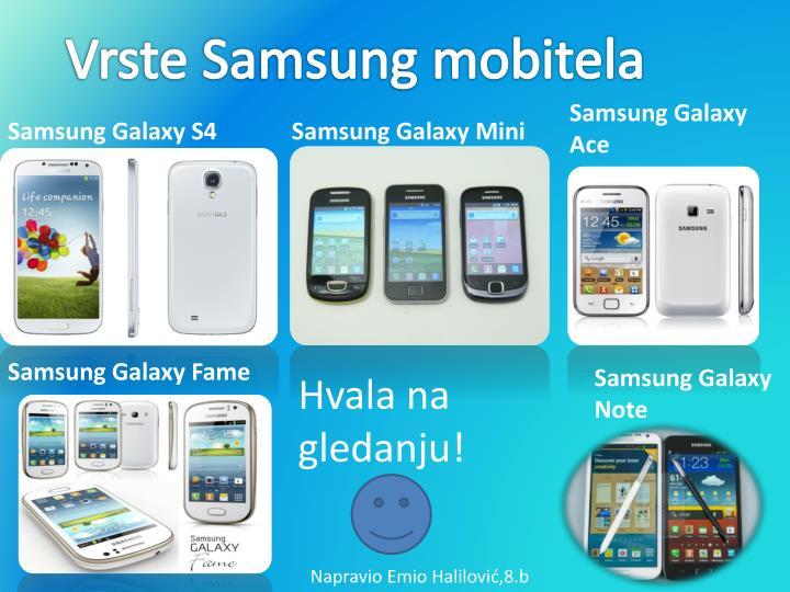 Vrste Samsung mobitela