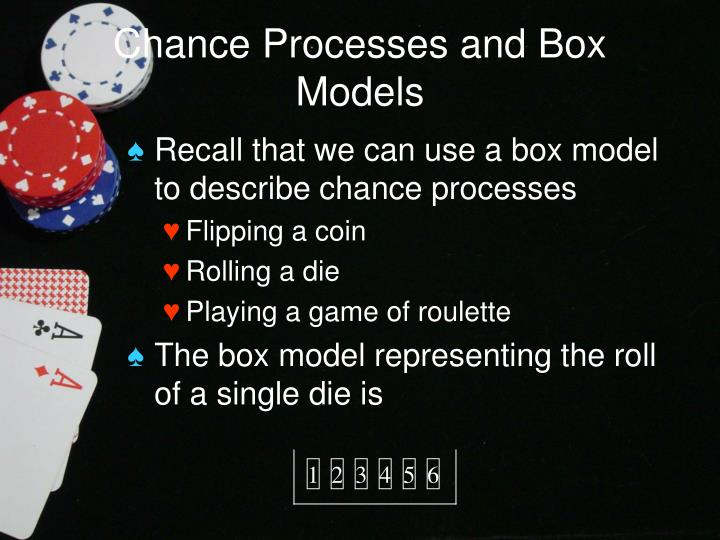 Chance processes and box models