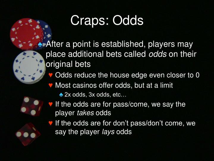 Craps: Odds