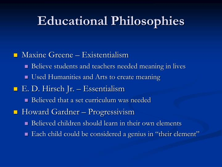 curriculum of existentialism