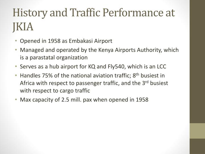History and Traffic Performance at JKIA