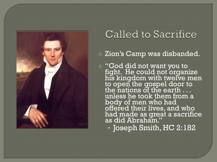 Called to Sacrifice