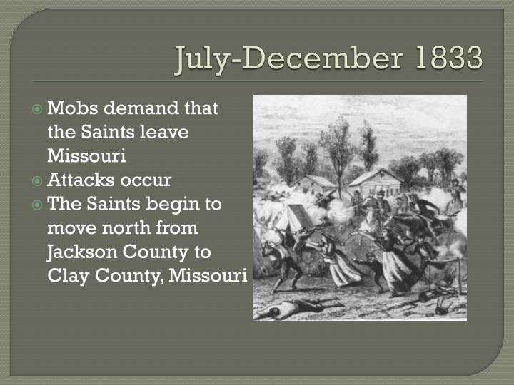 July december 1833