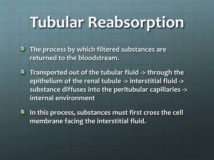 Tubular reabsorption