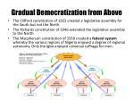 gradual democratization from above1